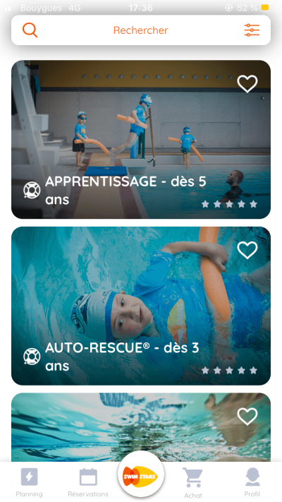 téléchargez l'application mobile Swim Stars